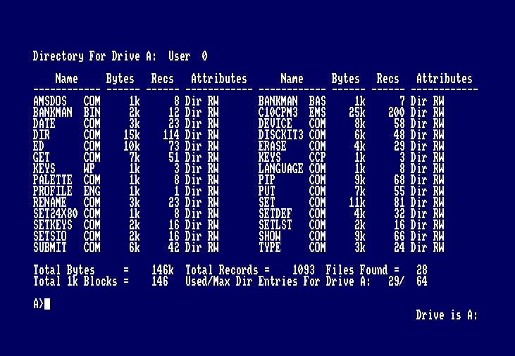 Curso CP/M para Amstrad CPC: Comandos Básicos 4