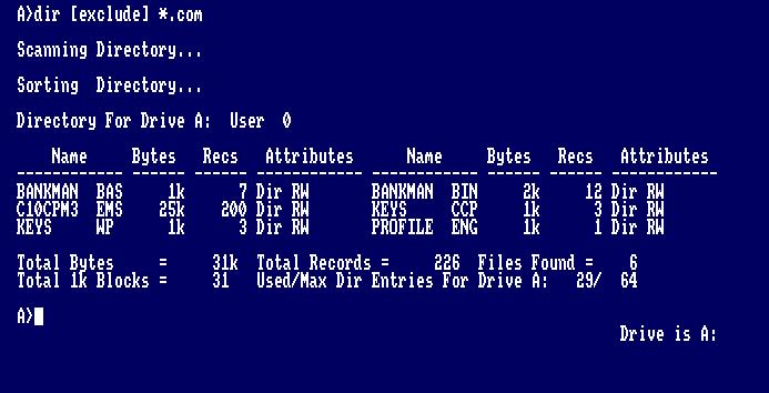 Curso CP/M para Amstrad CPC: Comandos Básicos 5
