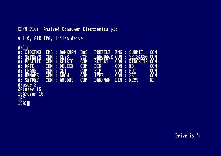 Curso CP/M para Amstrad CPC: los comandos 1